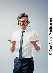 callcenter operator with headset