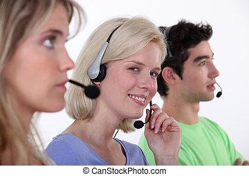 calldesk, werkende mensen