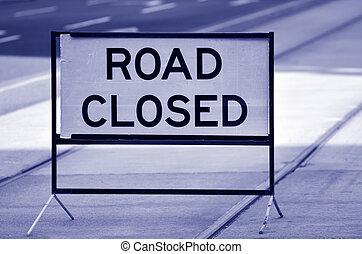 calle cerró el signo, y, símbolo