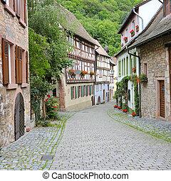 calle, de, el, pueblo viejo, en, alemania