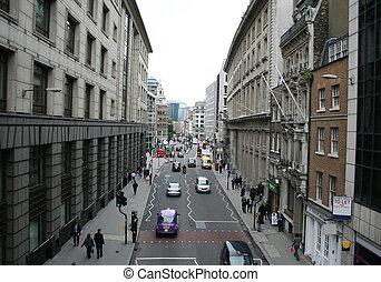 calle de la ciudad, londres, escena