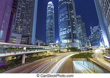 calle de la ciudad, senderos, moderno, semáforo