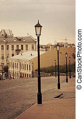 calle de la ciudad, viejo, kiev