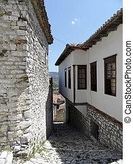 calle, en, berat, albania