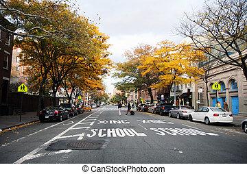 calle, en, nueva york