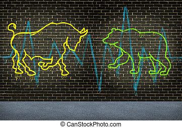 calle, mercado de valores, consejo