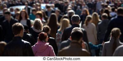 calle, multitud