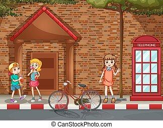 calle, niños