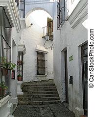 calle, viejo, barcelona