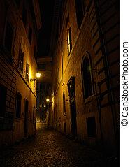 calle, viejo, europeo