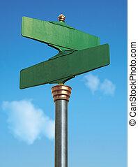 calle, viejo, fashoned, señal