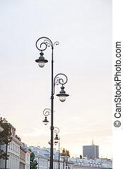 calles, lamppost, varsovia