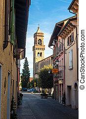 calles, viejo, italia, desenzzano.