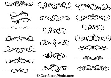 calligraphic, 集合, 元素, 邊框