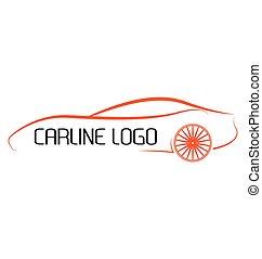 calligraphic, autó, jel