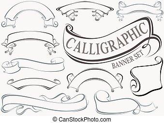 Calligraphic Banner Set