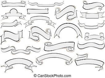 calligraphic, chorągwie