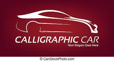 calligraphic, coche, logotipo