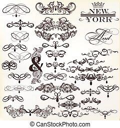 calligraphic, communie, vector, ontwerp, ouderwetse