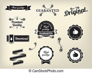 Calligraphic design elements and page decoration, High Quality and Satisfaction Guarantee Label collection