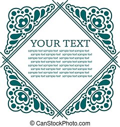 Calligraphic design elements. Vector illustration frame