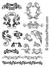 Calligraphic design, set