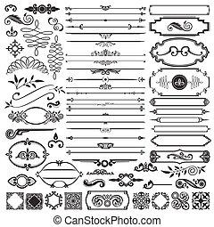 calligraphic, elemente, design