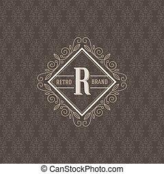 calligraphic, elemente, schablone, monogram, flourishes, logo, 6, elegant, verzierung