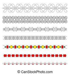 Calligraphic elements for decoration.