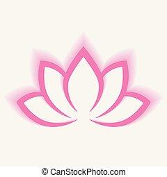 plat yoga lotus blossom symbole illustration. Black Bedroom Furniture Sets. Home Design Ideas