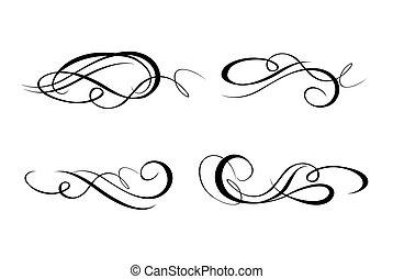 calligraphic, flourishes, cobrança
