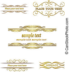 Calligraphic frame, border, label,