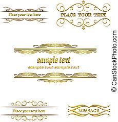 Calligraphic frame, border, label,