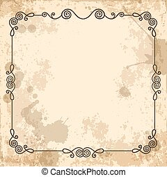 calligraphic frame on the old background