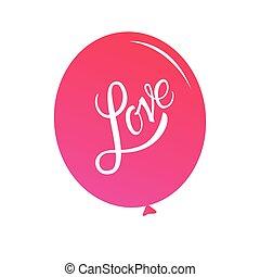 calligraphic, letras, love., inscripción