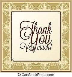 calligraphic, lettering, -, bedankt