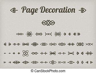 Calligraphic page decoration