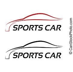 Calligraphic sport car logo