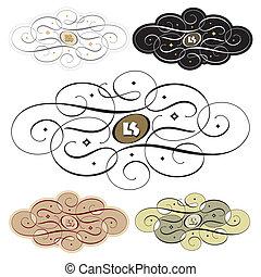 calligraphic swirl set (vector)