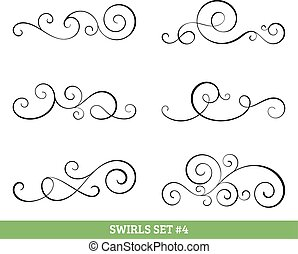 Calligraphic swirls collection