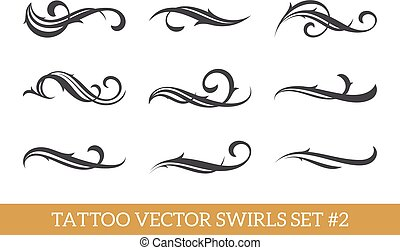 Calligraphic Swirls Set