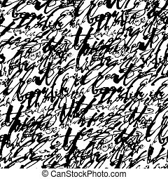 Calligraphic words seamless pattern