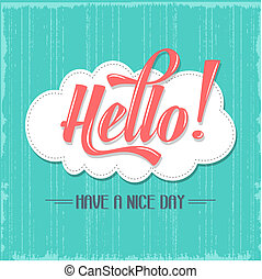 "Calligraphic  Writing ""Hello"", vector illustration"
