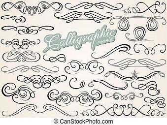 calligraphic, zaprojektujcie elementy