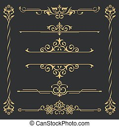 calligraphical, θέτω , χρυσός