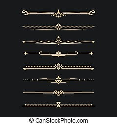 calligraphical, conjunto
