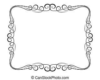 calligraphie, décoratif, décoratif, cadre