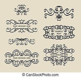 calligraphie, décorations, étiquette