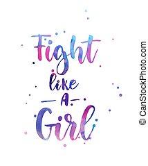 calligraphie, girl, aimer, lettrage, baston