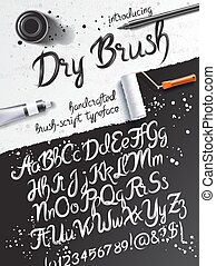 Calligraphy art mockup - Calligraphy mockup with dry brush...